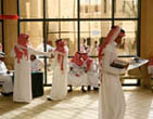 Students at King Saud University, where classes are segregated by gender.